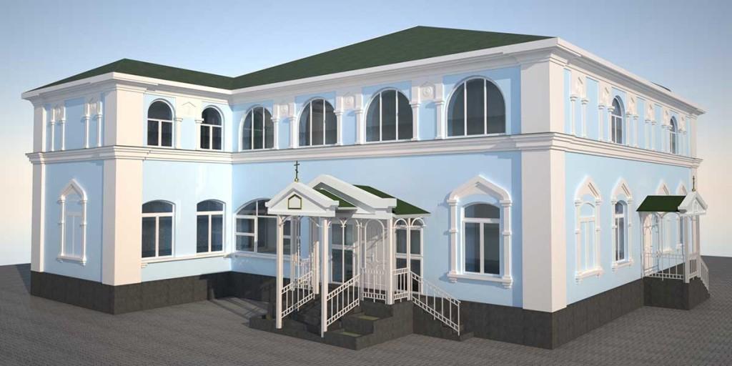 Проект здания Изюмской епархии, г. Изюм