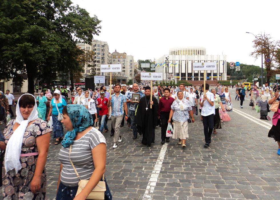 Паломники Ізюмської єпархії взяли участь в урочистостях з нагоди Дня Хрещення Русі та закінчення Всеукраїнської хресного ходу за мир в Україні