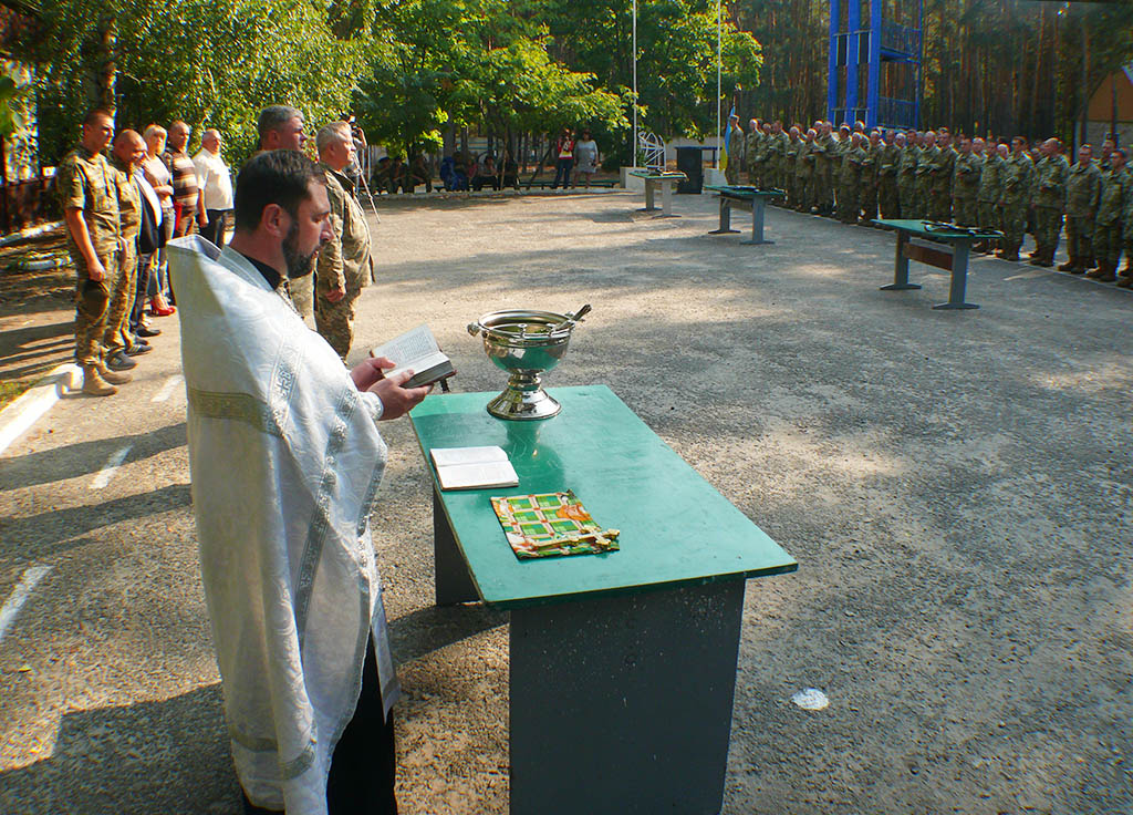 Благословення військовослужбовців перед початком навчальних зборів
