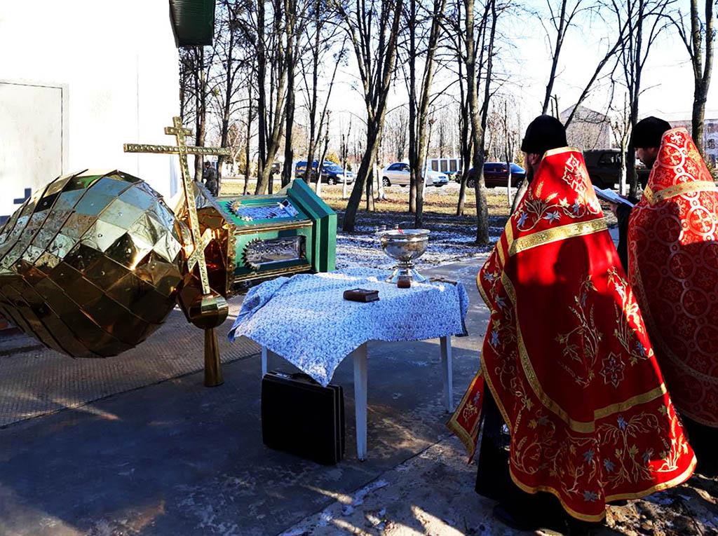 Освячення купола та хреста у місті Чугуєві
