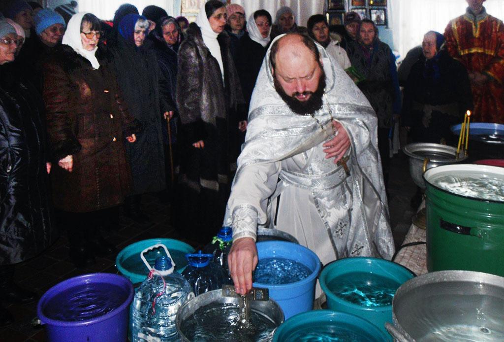 Хрещення Господнє в селищі Донець